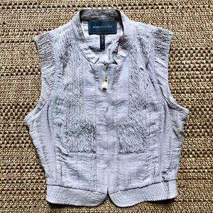 BCBGMaxAzria Fitted ZipUp Vest Size XXS